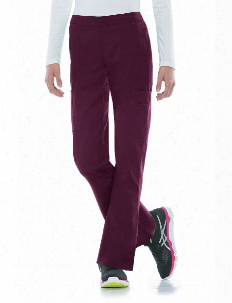 Dickies Eds Signature Stretch Antimicrobial Mid-rise Pull-on Pant - Wine - Female - Women's Scrubs