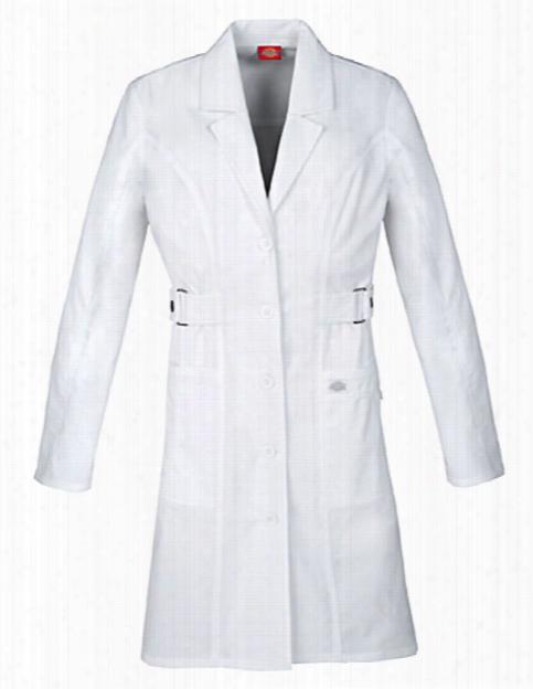 "Dickies Gen Flex 36"" Contemporary Fit Lab Coat - White - Female - Women's Scrubs"
