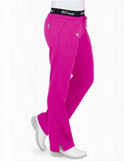 Grey's Anatomy Clearance Grey's Active 3 Pocket Logo Waist Scrub Pant - Cosmo - Female - Women's Scrubs