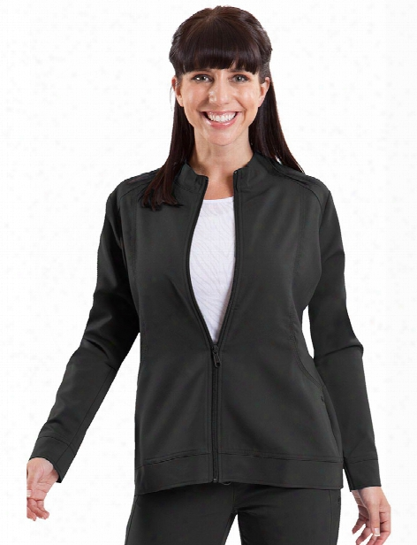 Healing Hands Purple Label Dakota Zipper Front Jacket - Black - Female - Women's Scrubs