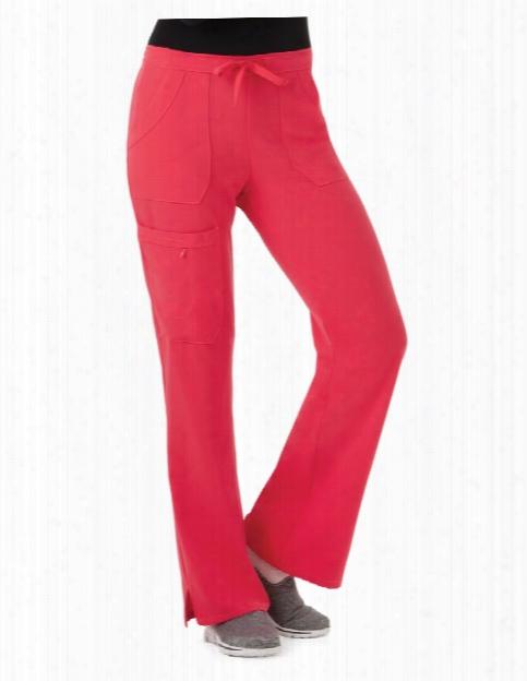 Jockey Drawstring Cargo Pant - Hibiscus - Female - Women's Scrubs
