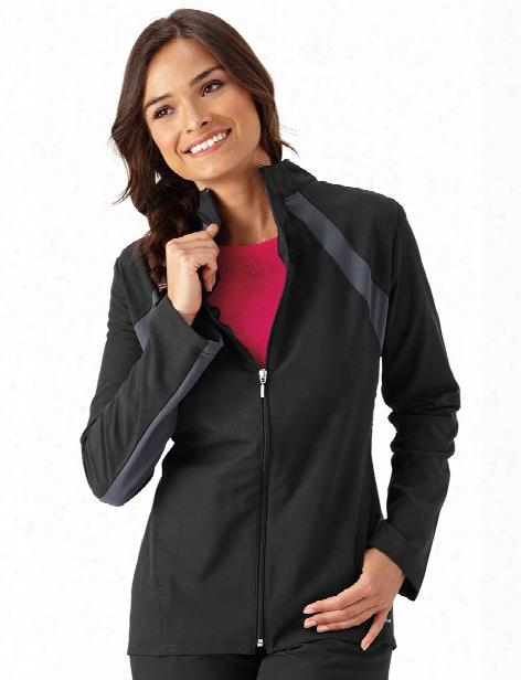 Jockey Modern Athletic Warm-up Jacket - Black - Female - Women's Scrubs