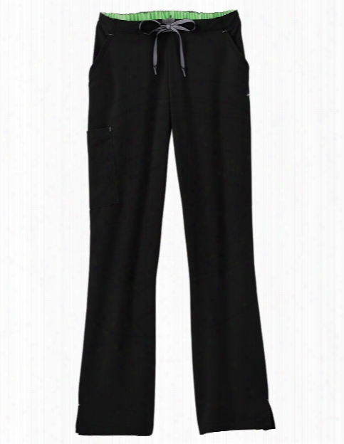 Jockey Modern Ladies 3-in-1 Convertible Drawstring Pant - Black - Female - Women's Scrubs