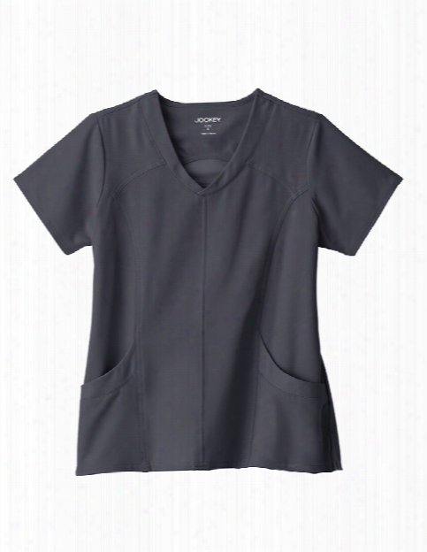 Jockey Performance Rx Peak Performance Scrub Top - Charcoal - Female - Women's Scrubs