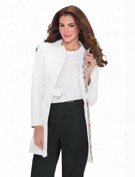 Koi Geneva Lab Coat - White - Female - Women's Scrubs