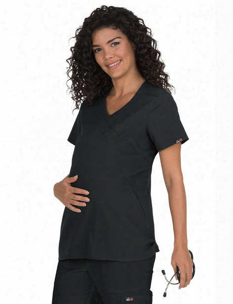 Koi Lite Maternity Destiny Scrub Top - Black - Female - Women's Scrubs