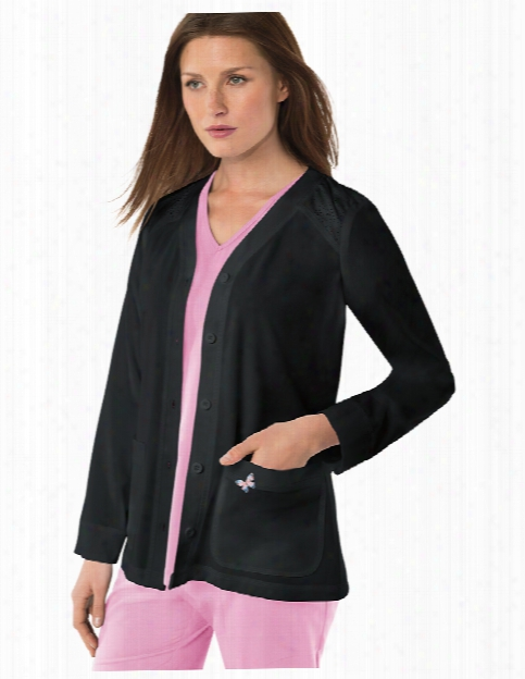 Koi Mariposa Lisa Jacket - Black - Female - Women's Scrubs