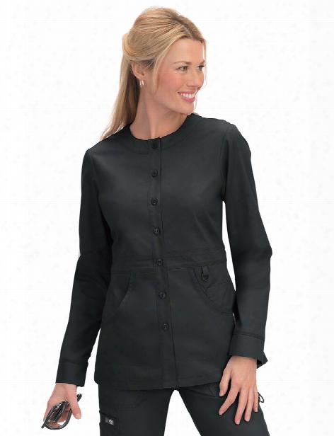 Koi Olivia Scrub Jacket - Black - Female - Women's Scrubs