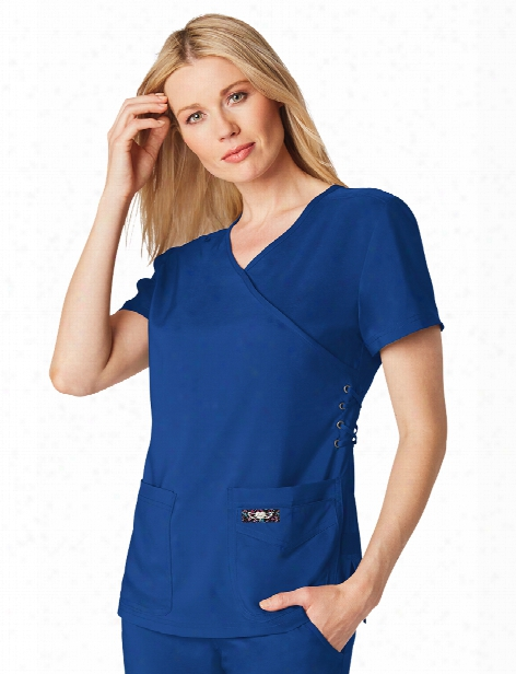 Koi Tech Abby Scrub Top - Galaxy - Female - Women's Scrubs