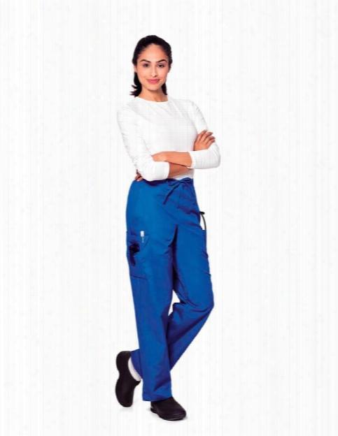 Landau Classic Cargo Drawstring Scrub Pant - Royal - Female - Women's Scrubs