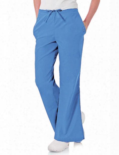 Landau Natural Flare Leg Scrub Pant - Ceil Blue - Female - Women's Scrubs
