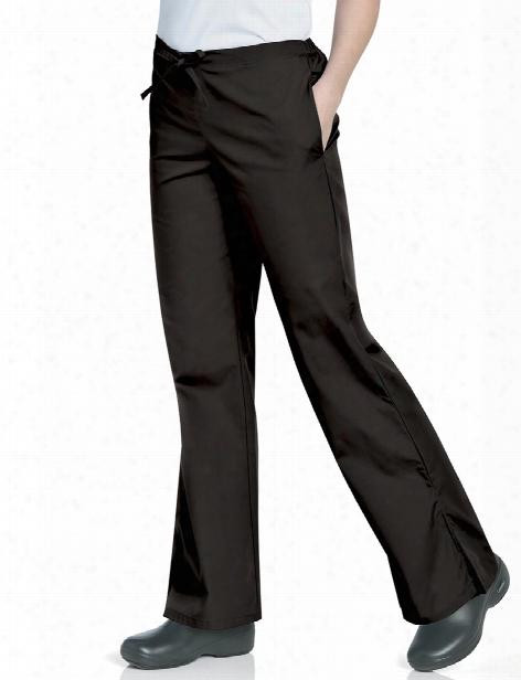 Landau Scrubzone Flare Leg Scrub Pant - Black - Female - Women's Scrubs