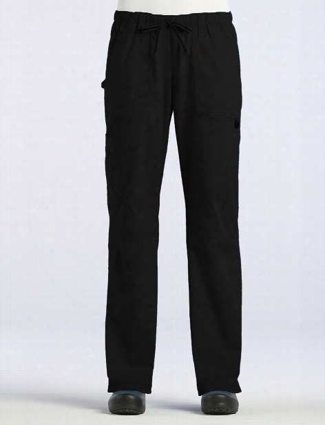 Maevn Blossom Signature Functional Scour Pant - Black - Female - Women's Scrubs