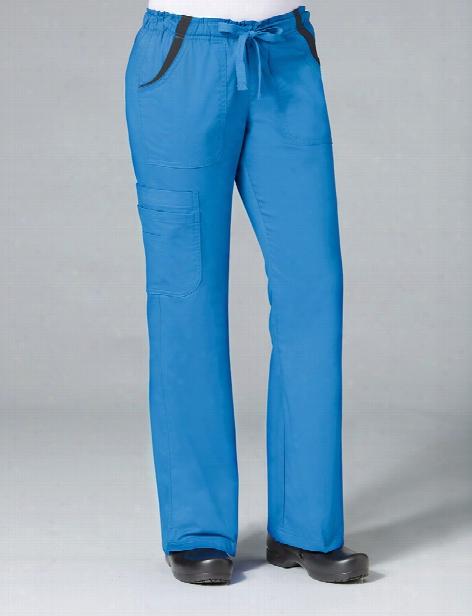 Maevn Empress Fashion Flare Leg Scrub Pant - Malibu Blue - Female - Women's Scrubs
