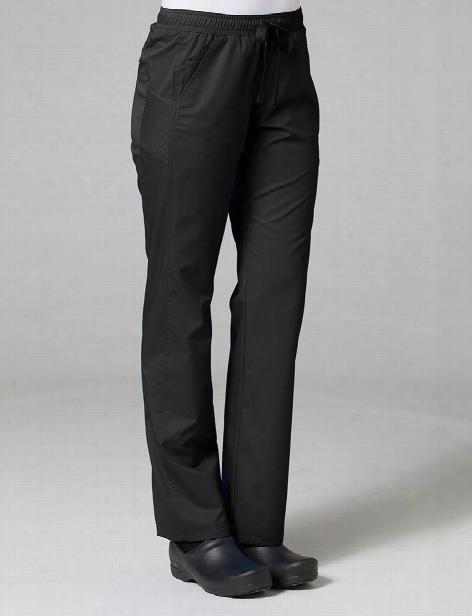 Maevn Eon Active Sporty Mesh Panel Pant - Black - Female - Women's Scrubs