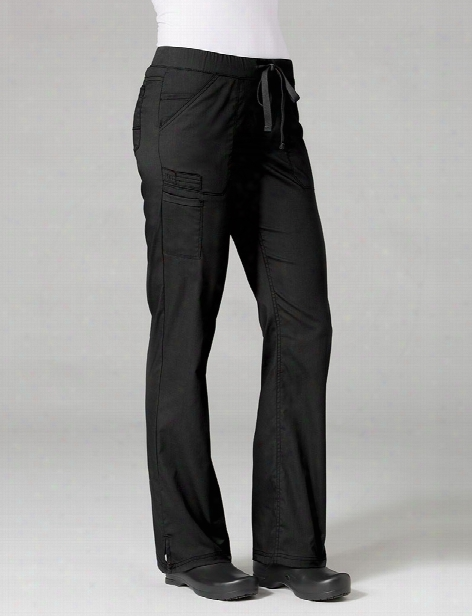 Maevn Primaflex Straight Leg Scrub Pants - Black - Female - Women's Scrubs