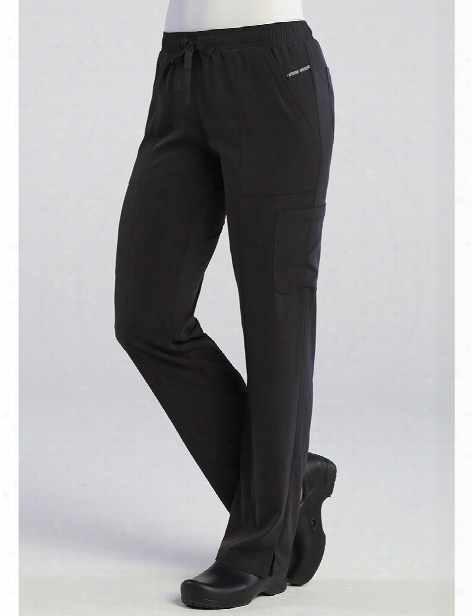 Maevn Pure Soft Relaxed Fit Cargo Scrub Pant - Black - Female - Women's Scrubs