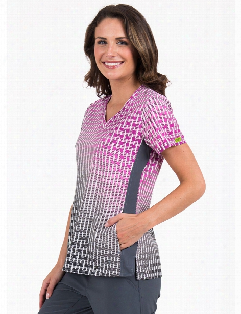 Med Couture Activate Virtual Wave Scrub Top - Print - Female - Women's Scrubs