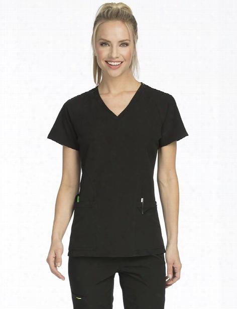 Med Couture Air Spirit Scrub Top - Black-apple - Female - Women's Scrubs