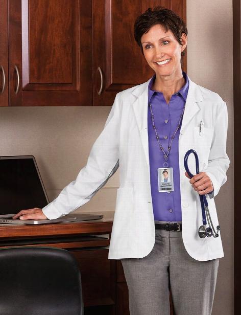 Meta Labwear Ladies Ipad Pocket Consultation Coat - White - Female - Women's Scrubs