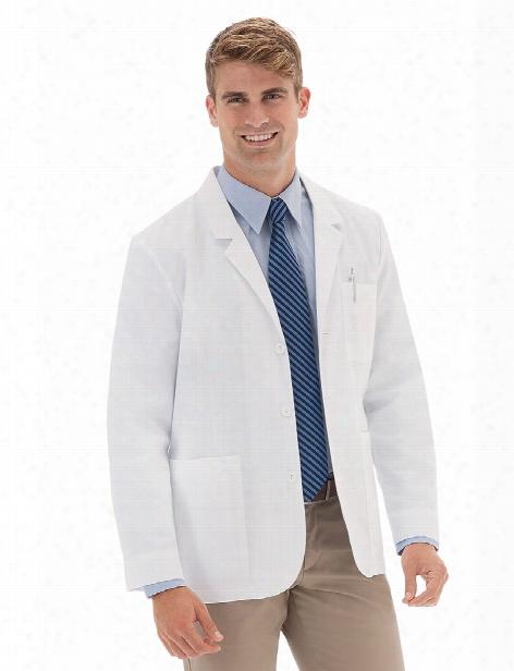 "Meta Labwear Mens 30"" Ipad Pocket Consultation Coat - White - Male - Men's Scrubs"