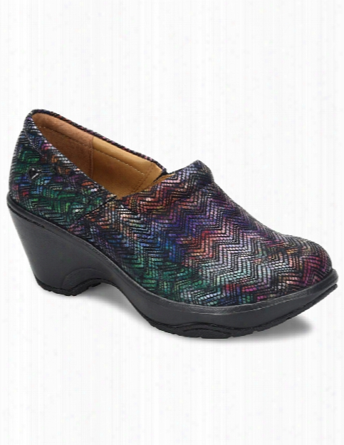 Nurse Mates Bryar Rainbow Chevron Shoe - Print - Female - Women's Scrubs