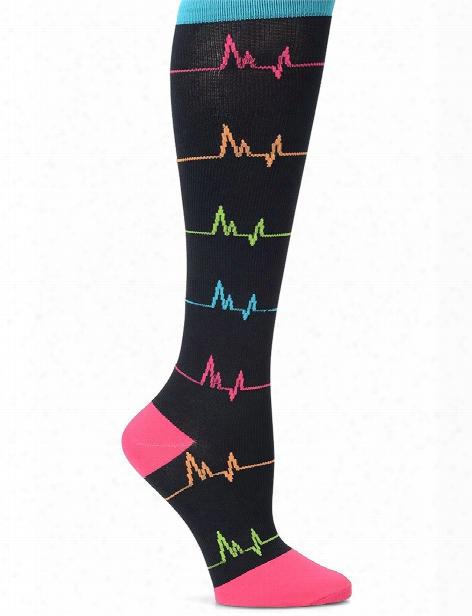 Nurse Mates Ekg Compression Trouser Socks - Female - Women's Scrubs