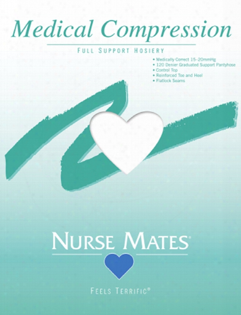 Nurse Mates Full Support Medical Compression Hosiery - White - Female - Women's Scrubs