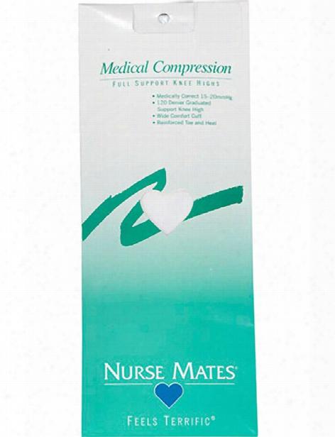 Nurse Mates Full Support Medical Compression Knee Highs - White - Female - Women's Scrubs