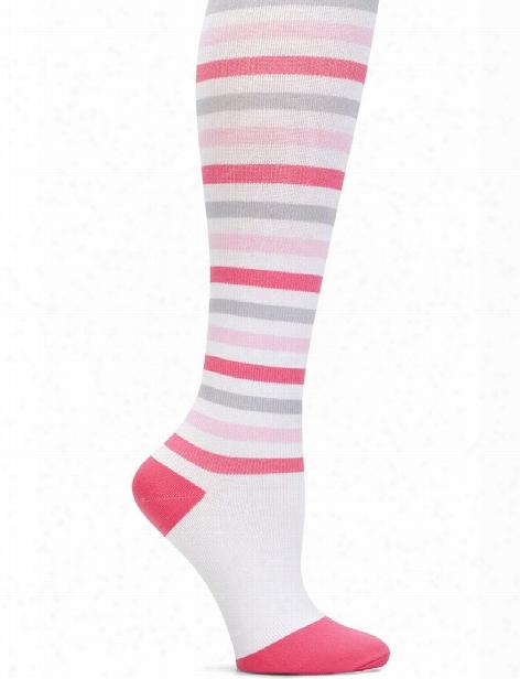 Nurse Mates Nurse Mates Pink/grey/white Striped Socks - Female - Women's Scrubs