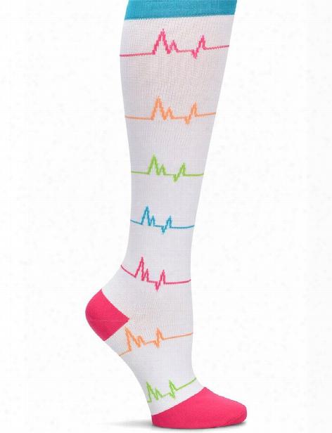 Nurse Mates Nurse Mates White Ekg Compression Trouser Socks - Female - Women's Scrubs