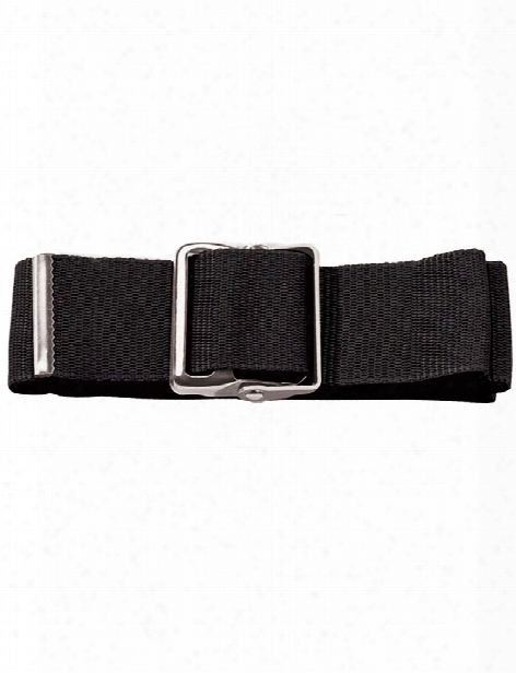 Prestige Medical Nylon Gait Belt With Metal Buckle - Black - Unisex - Medical Supplies