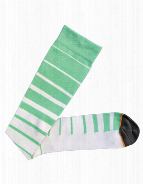Prestige Medical Striped Compression Socks - Aqua Sea Stripes - Female - Women's Scrubs