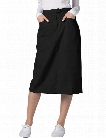 Adar Universal Mid-Calf Length Skirt - Black - female - Women's Scrubs