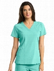 Barco One 4 Pocket V-Neck Scrub Top - Barco Aqua - female - Women's Scrubs