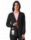Cherokee WorkWear Originals Cardigan Warm-up Scrub Jacket - Black - female - Women's Scrubs