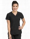 Med Couture Activate Fluid Scrub Top - Black - female - Women's Scrubs