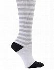 Nurse Mates Nurse Mates Gray/Black/White Stripe Compression Trouser Socks - unisex - Women's Scrubs