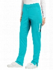 White Cross Allure Retro Sport Scrub Pant - Blue Curacao-Slate - female - Women's Scrubs