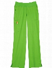 White Cross Allure Yoga Stretch Knit Waist Pant - Green Apple - female - Women's Scrubs