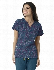 WonderWink Four-Stretch Beautiful Chaos Scrub Top - Print - female - Women's Scrubs