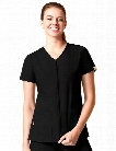 WonderWink Origins Kilo Zip Front Jacket - Black - female - Women's Scrubs