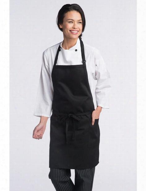 Uncommon Threads 2 Patch-pocket Adjustable Bib Apron - Black - Unisex - Chefwear