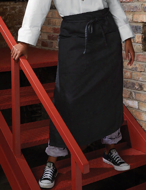 Uncommon Threads 2 Pocket Bistro Apron - Black - Unisex - Chefwear