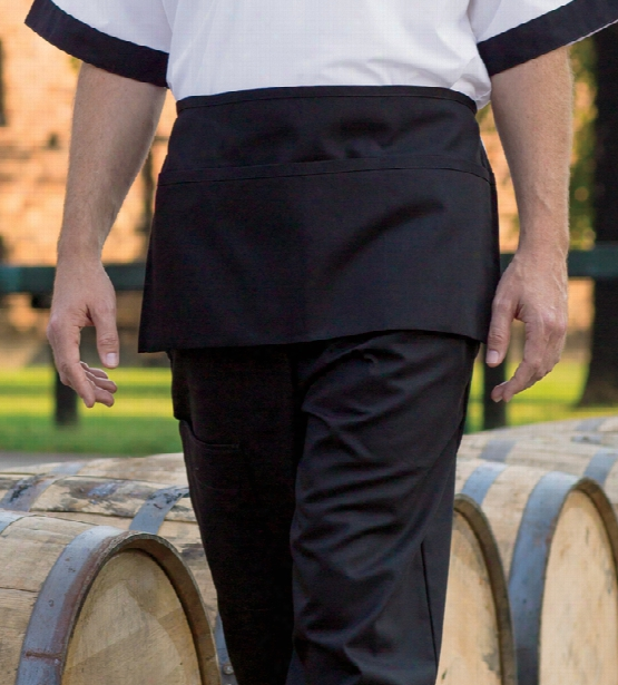 Uncommon Threads 3 Pocket Waist Apron - Black - Unisex - Chefwear