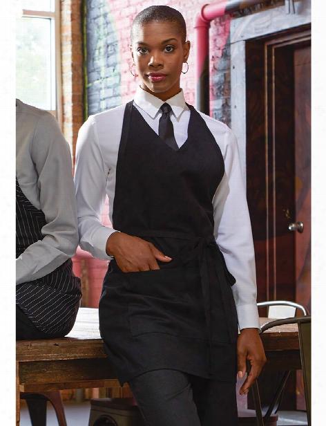 Uncommon Threads Formal V-neck Tuxedo Apron - Black - Unisex - Chefwear