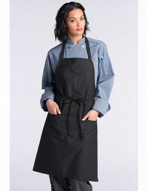 Uncommon Threads Pencil Pocket Bib Apron - Black - Unisex - Chefwear