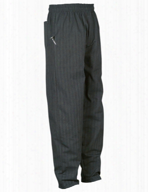 Uncommon Threads Yarn-dyed Baggy Chef Pant - Charcoal Grey - Unisex - Chefwear