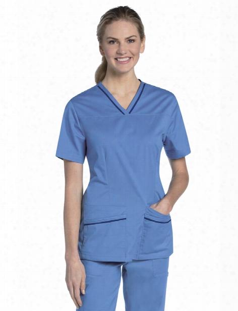 Urbane Uflex Crossover Mean Top - Ceil-navy - Female - Women's Scrubs