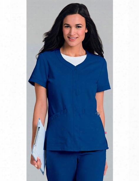 Urbane Ultimate Megan Snap-front Jacket - Royal Blue - Female - Women's Scrubs